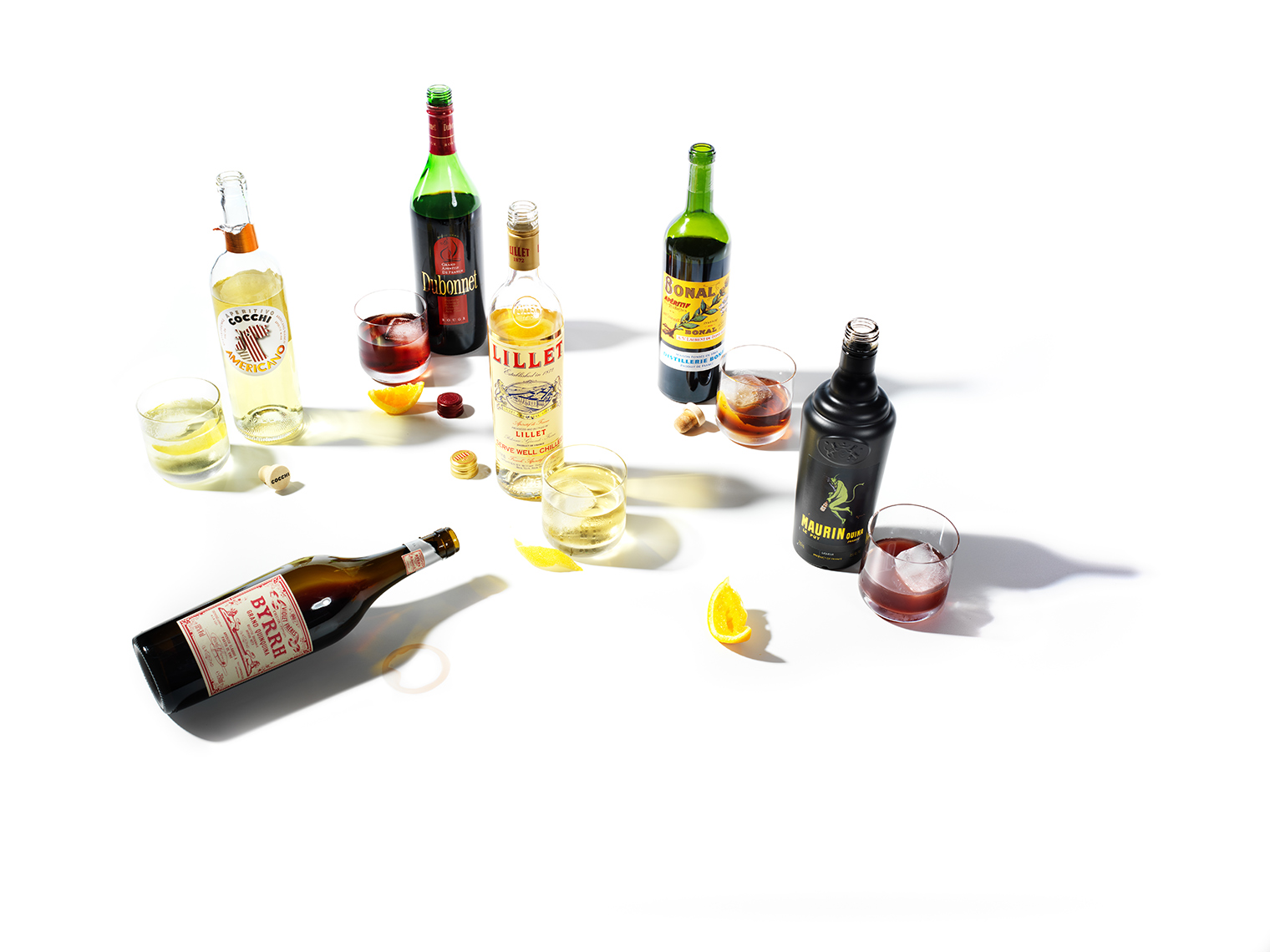 Cocktails and Liquor Bottles