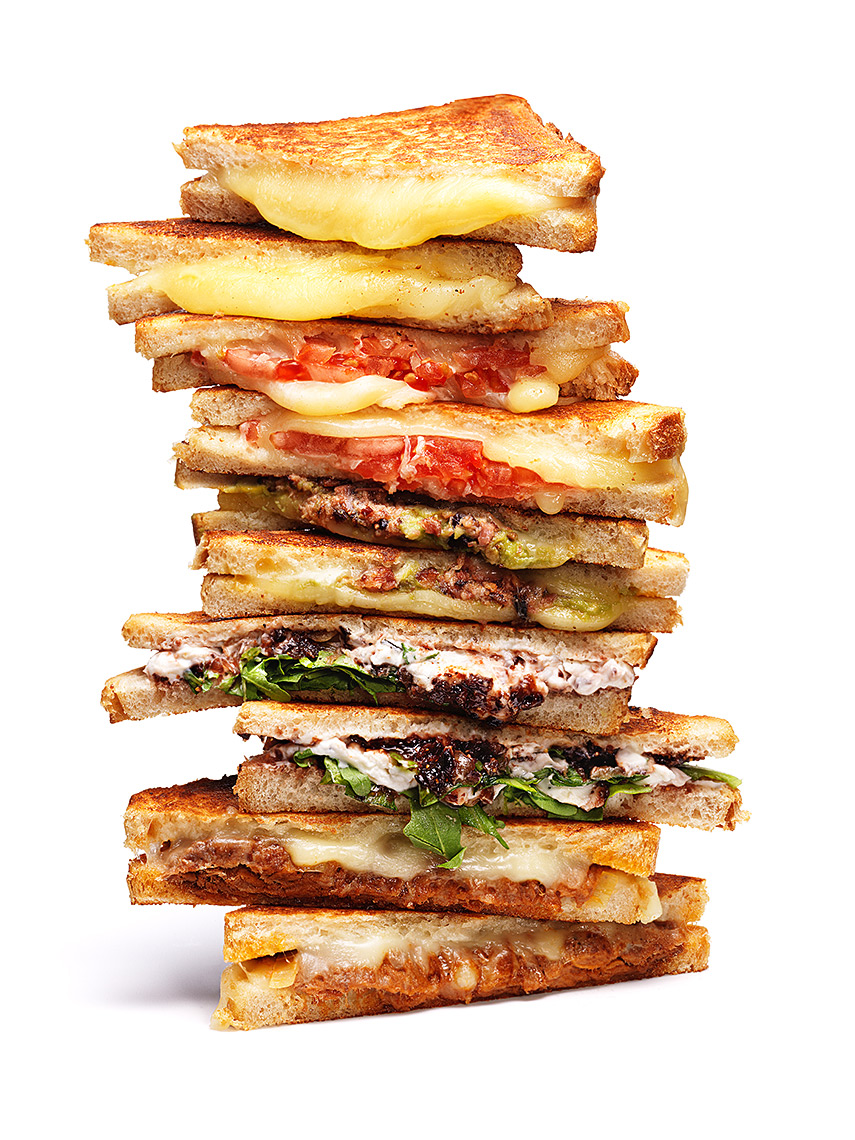 Stack of Grilled Cheeses