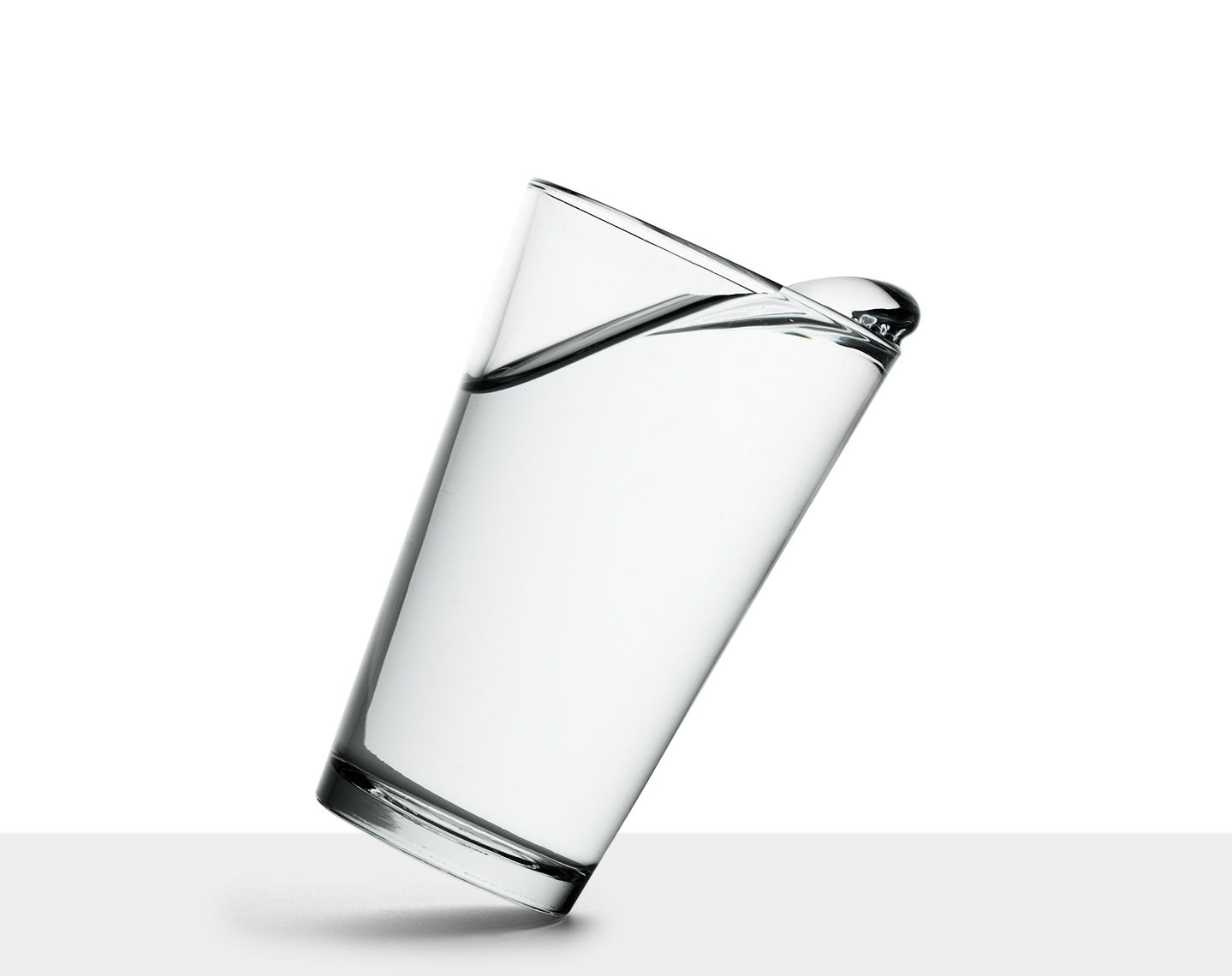 water glass tipping